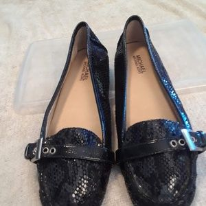 Black Michael Kors loafers